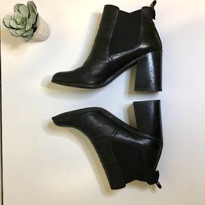 BP Nordstrom Block Heel Leather Ankle Bootie Boot